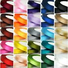 "25 Yards 6mm 1/4"" Multicolor Satin Ribbon Wedding Party Sewing Embellishment"
