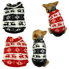 Pet Puppy Dog Xmas Reindeer Snowflake Fleece Sweater Hoody Pullover Warm Apparel