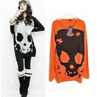 Sweater Punk Skeleton Skull Top Pullover Knitwear Tunic Dress Ladies Dresses