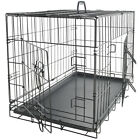 42 Dog Crate 2 Door w/Divide w/Tray Fold Metal Pet Cage Kennel House for Animal