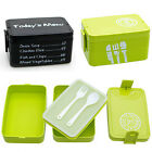 Multi-layer Plastic Lunch Box With Fork+Spoon Hand Carry Bento Food Container