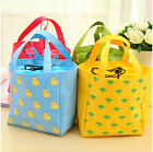 Cute Pattern Insulated Tinfoil Cooler Thermal Picnic Lunch Bag Waterproof Tote