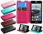For LG Optimus F6 D500 MS500 Premium Wallet Case Pouch Flap STAND Cover