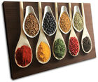 Spices Indian Food Kitchen SINGLE CANVAS WALL ART Picture Print VA