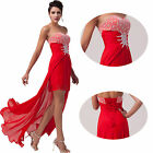 Sexy Chiffon Bridesmaid Wedding Prom Women Party Formal Evening Gown Ball Dress