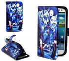 Wolf Design Stand Hybrid Leather Case Cover for Various Samsung LG Phones