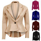 Top Fashion Women Office One Button Design Blazers Outwear Jackets Tops Suits