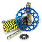 YAMAHA YZ450F YZF450 2003-2015 REGINA RX3 CHAIN AND RENTHAL SPROCKET KIT BLUE
