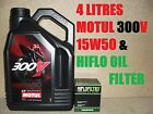 4L LTR MOTUL 300V 15W50 OIL AND HIFLO HF158 FILTER CHANGE KTM 1190 RC8 R 11 2011