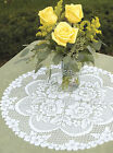 """Heritage Lace Victorian Rose Doily 19"""" Round in White or Ecru, Vintage Romance"""