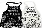 Vintage Quote Design Black Or White Apron 60cm x 84cm 100% Cotton Kitchen Cook