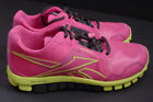 NEW Reebok Realflex Run 2.0 Shoe Sneaker V53907 Pink Neon Yellow WOMEN Sz 6 10