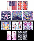 For Samsung Phones Blossom Watercolor Design Leather Media Stand Flip Case Cover