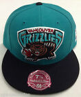 NBA Vancouver Grizzlies Mitchell and Ness Fitted Cap Flat Brim Adult Hat M on eBay