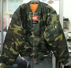 FOX OUTDOOR MEN'S MA-1 FLIGHT JACKET COAT WOODLAND BDU CAMO 3X 4X 5X 6X 7X NWT
