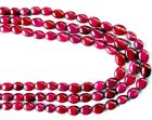GENUINE Precious RUBY OVAL LARGE 8.5-12mm Beads Select-A-Size