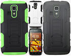 For Kyocera Hydro Life C6530 HYBRID KICKSTAND Rubber Case Phone Cover Accessory