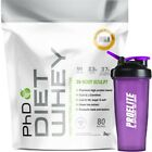 PhD Nutrition Diet Whey Protein 2kg / 2000g  - All Flavours + Neon Shaker V2