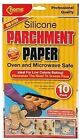 SILICONE PARCHMENT PAPER - PACK 10 SHEETS - BAKING TRAY LINER /OVEN OR MICROWAVE