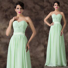 New Lady Sexy Strapless Long Chiffon Ball Gown  Evening Prom Party Banquet Dress