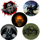 GOTHIC SKULL 4x4 SPARE WHEEL COVER VINYL GRAPHIC DECAL STICKER WHEELCOVER