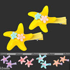 Pair Cute Resin Starfish Flower Hair Clip Decor Children Student Baby Girl Gift