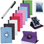 360 Rotating Case For Apple iPad Mini 1 2 3 New Pu Leather Cover Stand + Stylus