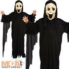 Demon Ghost + Mask Childrens Halloween Fancy Dress Kids Horror Childs Costume