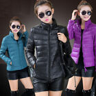New Arrival Women's Winter Candy Color Light Weight Slim Down Overcoat Jacket