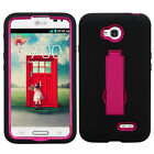 For LG Realm LS620 IMPACT Hard Rubber Case Phone Cover Kickstand Accessory