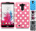 For LG G Vista VS880 HARD Protector Case Snap On Phone Cover + Screen Protector