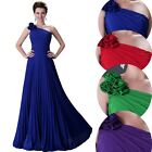 HOT SALE Glam Lady Pleated Formal Long Bridesmaid Cocktail Evening Dress US DQ