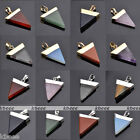 1X Triangle Pyramid Crystal Quartz Reiki Chakra Healing Natural Gemstone Pendant