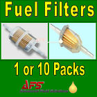 IN-LINE FUEL FILTER Petrol & Diesel - Small/Large/Long 6mm/8mm/10mm/12mm Hose