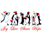 HOLIDAY PENGUINS SHARE HOPE CHRISTMAS JOY T-SHIRT Gildan Ultra Cotton Tee