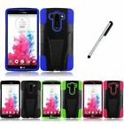 For LG G Vista VS880 V3 Kickstand Double Layer Impact Cover Phone Case Stylus