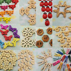 20 Wood Button Clip Flower Heart Butterfly Car Mickey Dragonfly Toggle Bead
