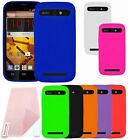For ZTE Warp Sync N9515 Cover Silicone Soft Skin Case + Screen Protector
