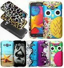 For Samsung Galaxy AVANT G386 Cover Hard Snap Rubberized Design Accessory Case