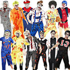 Mens Zombie Fancy Dress Halloween Horror Scary Adults Uniform Costume Outfit New