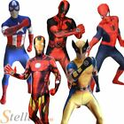 Mens Adult Marvel Zappar Morphsuit Superhero Halloween Fancy Dress Costume