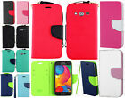 T-Mobile Samsung Galaxy Avant G386T Premium Leather 2 Tone Wallet Flip Cover