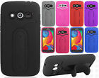 T-Mobile Samsung Galaxy Avant G386T Rubber Hybrid HARD Cover Snap Tail STAND