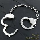 HANDCUFFS BRACELET STAINLESS STEEL bangle silver bdsm necklace gothic emo punk