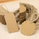 100 Brown Blank Kraft Paper Gift Tags Wedding Label Strings Round /rectangle