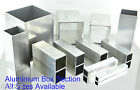 Aluminium Square Box Section x 12 pre cut Sizes & x 8 Lengths