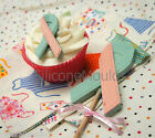 6+1 Charity Ribbon *BLUE* Chocolate Silicone Bakeware Cake Lolly Mould Candy