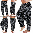 New Womens Ladies Tie Dye Print Alibaba Full Length Harem Trousers Leggings S XL