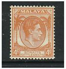 Malaya Straits Settlements - 1938, 4c Orange - Mint - SG 280