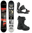 2014 FLOW DRIFTER Men's Snowboard + Five SE Bindings + Vega BOA Boots NEW